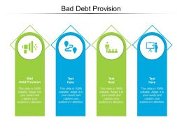 Bad Debt Provision Ppt Powerpoint Presentation Model Design Inspiration Cpb