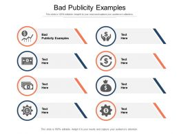 Bad Publicity Examples Ppt Powerpoint Presentation Inspiration Smartart Cpb