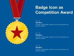Badge Icon As Competition Award
