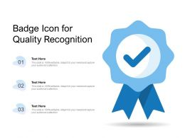 Badge Icon For Quality Recognition