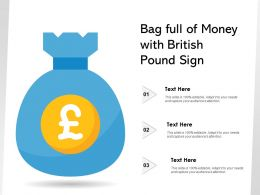 Bag Full Of Money With British Pound Sign