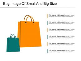 Bag Image Of Small And Big Size