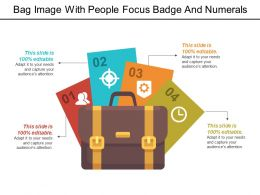 Bag Image With People Focus Badge And Numerals