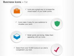Bag Shield Box Check Ppt Icons Graphics