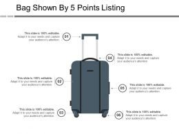 Bag Shown By 5 Points Listing