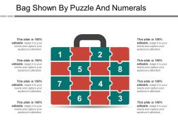 Bag Shown By Puzzle And Numerals