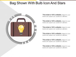 Bag Shown With Bulb Icon And Stars