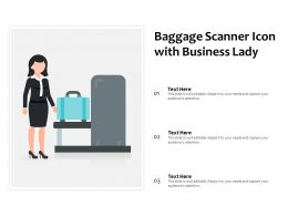 Baggage Scanner Icon With Business Lady