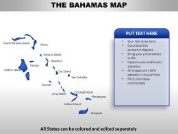 Bahamas Country Powerpoint Maps