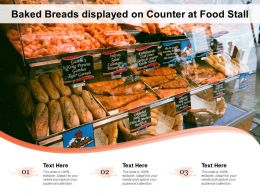 Baked Breads Displayed On Counter At Food Stall