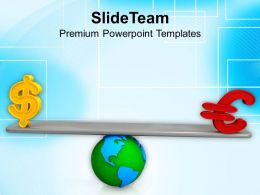 Balance Between Dollar And Pound PowerPoint Templates PPT Backgrounds For Slides 1113