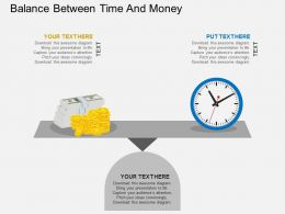 Balance Between Time And Money Flat Powerpoint Design