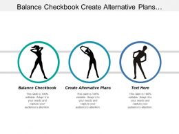 Balance Checkbook Create Alternative Plans Appearance Good Service