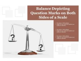 Balance Depicting Question Marks On Both Sides Of A Scale