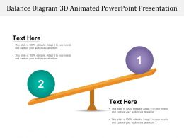 Balance Diagram 3d Animated Powerpoint Presentation