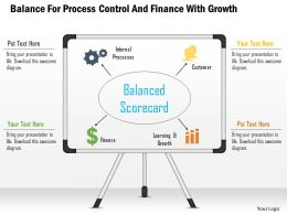 Balance For Process Control And Finance With Growth Powerpoint Template