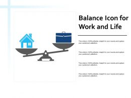 Balance Icon For Work And Life
