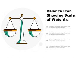 Balance Icon Showing Scale Of Weights
