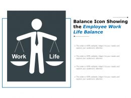 Balance Icon Showing The Employee Work Life Balance