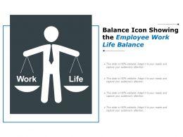 Balance Icon Showing The Employee Work Life Balance