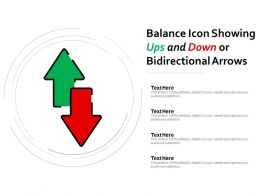Balance Icon Showing Ups And Down Or Bidirectional Arrows