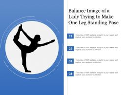 Balance Image Of A Lady Trying To Make One Leg Standing Pose
