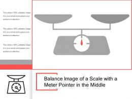 Balance Image Of A Scale With A Meter Pointer In The Middle