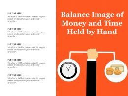 Balance Image Of Money And Time Held By Hand