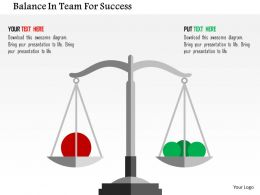 Balance In Team For Success Flat Powerpoint Design
