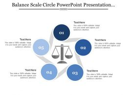 Balance Scale Circle Powerpoint Presentation Templates