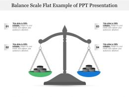 Balance Scale Flat Example Of Ppt Presentation