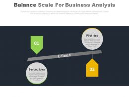 Balance Scale For Business Analysis Powerpoint Slides