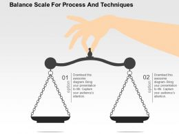 Balance Scale For Process And Techniques Flat Powerpoint Design