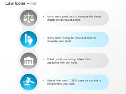 Balance Scale Gavel Court Flag Ppt Icons Graphics