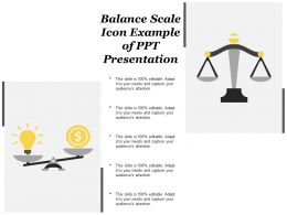 Balance Scale Icon Example Of Ppt Presentation