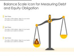Balance Scale Icon For Measuring Debt And Equity Obligation