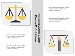 Balance Scale Icons Powerpoint Show