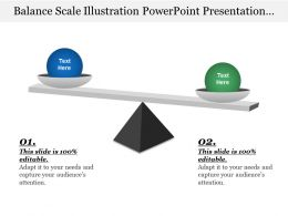 Balance Scale Illustration Powerpoint Presentation Templates