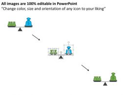 Balance Scale With Money Bags Financial Balance Flat Powerpoint Design