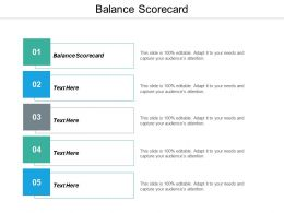 Balance Scorecard Ppt Powerpoint Presentation Gallery Layout Cpb