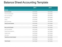Balance Sheet Accounting Template Powerpoint Shapes
