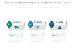 Balance Sheet Business Diagram Ppt Template Presentation Layouts