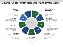 Balance Sheet Human Resource Management Lead Generation Strategic Planning Cpb