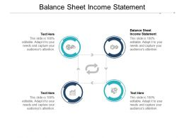 Balance Sheet Income Statement Ppt Powerpoint Presentation Icon Graphics Pictures Cpb