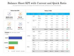 Balance Sheet KPI With Current And Quick Ratio