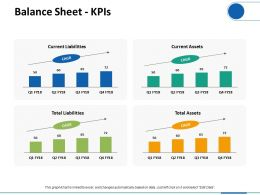Balance Sheet KPIs Ppt Visual Aids Infographic Template
