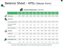 Balance Sheet Kpis Template 2 Ppt Example File