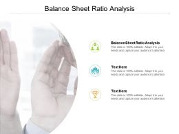 Balance Sheet Ratio Analysis Ppt Powerpoint Presentation Icon Information Cpb