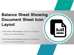 Balance Sheet Showing Document Sheet Icon Layout