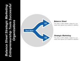 Balance Sheet Strategic Marketing Entrepreneurship Tools Successful Organizations